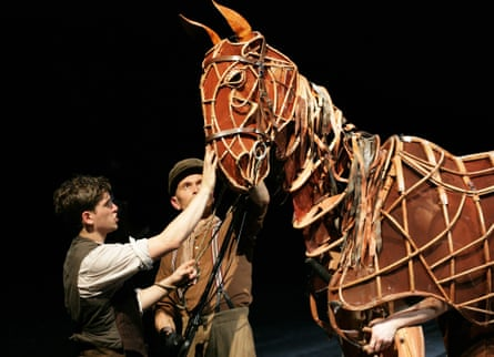 Kit Harrington, left, and puppeteer Craig Leo in the National Theatre's acclaimed production of War Horse, which was a huge commercial success.