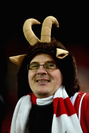 The Köln fans do love him, mean stare or not
