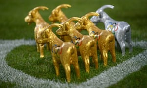 The commercial arm of the club love Hennes VIII too, as his image is not only on the club's emblem and merchandise, but also in books and the official matchday magazine. Here are some small Olympic-branded figures of Hennes VIII in 2012