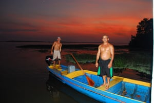 locals with boat