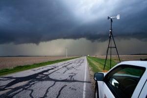 Storm chasing in Nebraska.