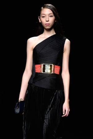 Issa Lish models Balmain at Paris fashion week, AW15
