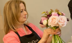Harriet puts together a bouquet at McQueens.