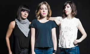 Sleater-Kinney Janet Weiss, Corin Tucker and Carrie Brownstein