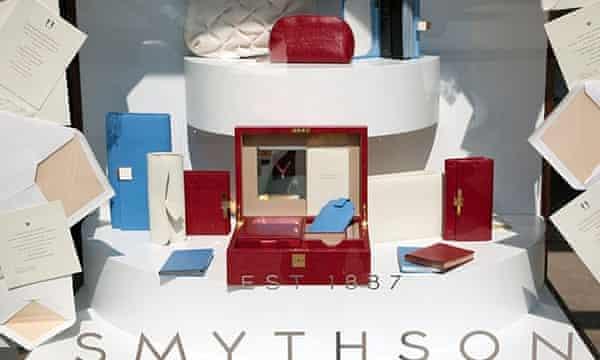 Smythson makes stationery and luxury goods.