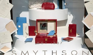 Smythson makes stationery and luxury goods.