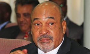 President Desi Bouterse of Suriname, above, was elected in 2010, having earlier run the country after a 1980 coup. His son Dino was convicted in the US after 'his greed got the better of him'.