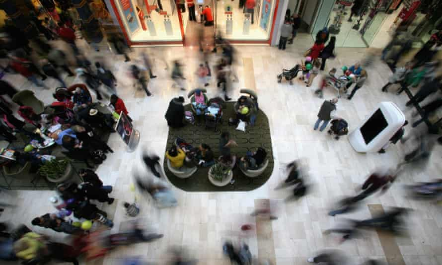 Shoppers at Westfield mall in west London. The BCC said: 'Consumer spending is one of the key drivers in our growth upgrade.'