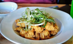 Korean Fried Chicken – twice fried - and perfect with kimchi.