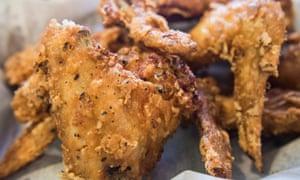 Crisp Korean fried chicken wings