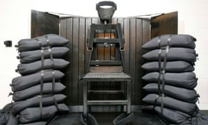 Utah's firing squad execution chamber at the  state prison in Draper.