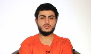 A grab from a video released by Isis showing 19-year-old Muhammad Musallam, before he was shown being killed by a young boy.