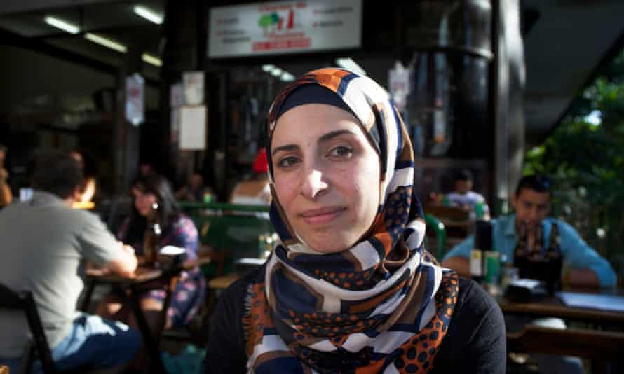 Dana al-Balkhi who was among the first Syrian refugees to reach Brazil.
