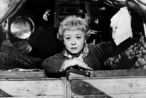 Giulietta Masina at the doomed Gelsomina in La Strada.