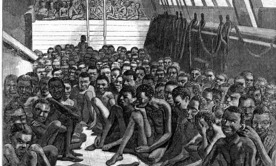 A ship of African slaves