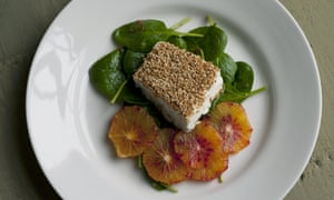 Feta with Spinach and Blood Orange