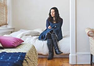 Elisa Albert in her apartment