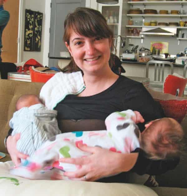 Miranda with both babies