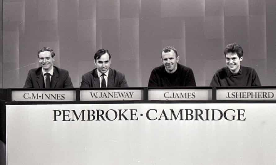 Clive James on University Challenge in 1968.