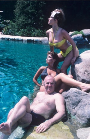 James at the Playboy Mansions in 1987.