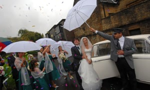 Bad weather on a wedding day