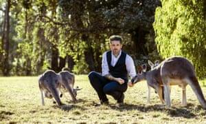 Jock Zonfrillo, photographed at Cleland Wildlife Park, Adelaide