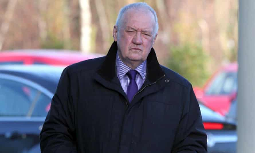 Former chief superintendent David Duckenfield arrives at the Hillsborough inquests in Warrington.