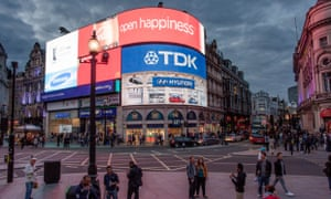 Picadilly Circus: one of the one of the best-known advertising sites in the world