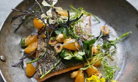 State Bird Provisions' red trout, mandarin, hazelnut-garum vinaigrette