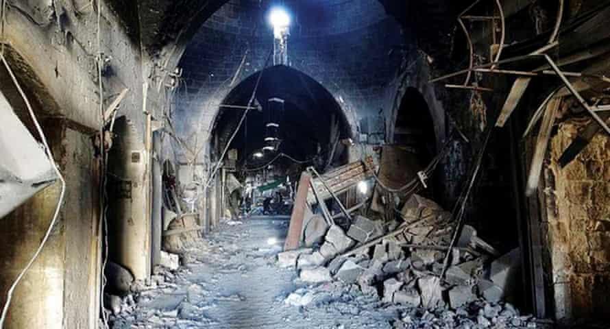 An Aleppo souk