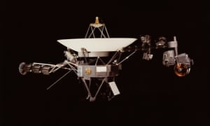 Voyager 1 Space Probe in outer space