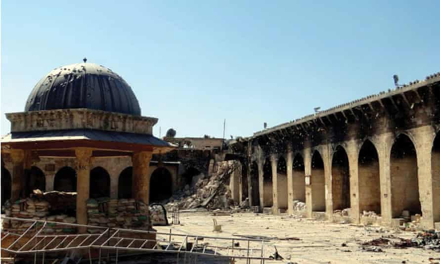 An Aleppo mosque destroyed