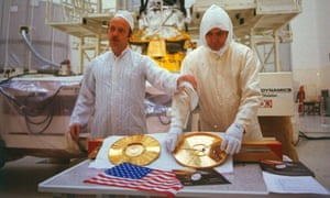 Gold standard: unveiling the LP which each space probe carries. The record has 115 photos and messages in 55 languages.