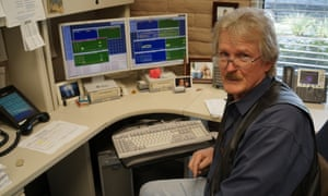 'One of us is always on call': Steve Howard in his office in Pasadena, California. Messages sent from his computer take 17 hours at the speed  of light to reach Voyager 1.
