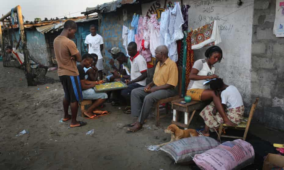 Residents of Monrovia's West Point township.