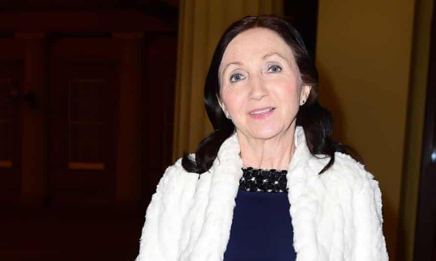 Jane Hawking at the reception in support of the Motor Neurone Disease Association on Tuesday.
