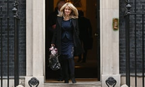 Esther McVey, minister for employment and disabilities, leaves after the weekly cabinet meeting at Downing Street.