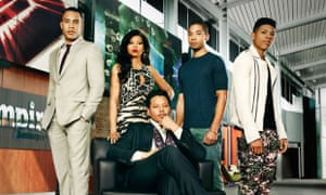 Terrence Howard (centre) and the cast of Empire.