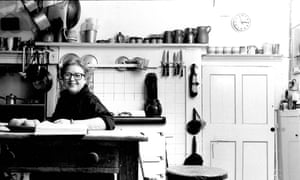 Jane Grigson at home in Broadtown, Wiltshire, September 1989.