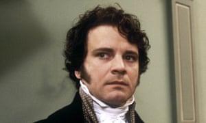 Colin Firth as Mr Darcy in the BBC's 1995 adaptation of Pride and Prejudice.