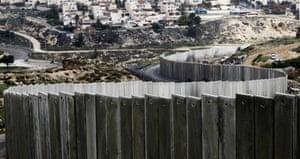 Israel's separation barrier in Jerusalem.