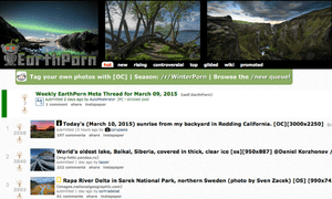 The front page of /r/EarthPorn.