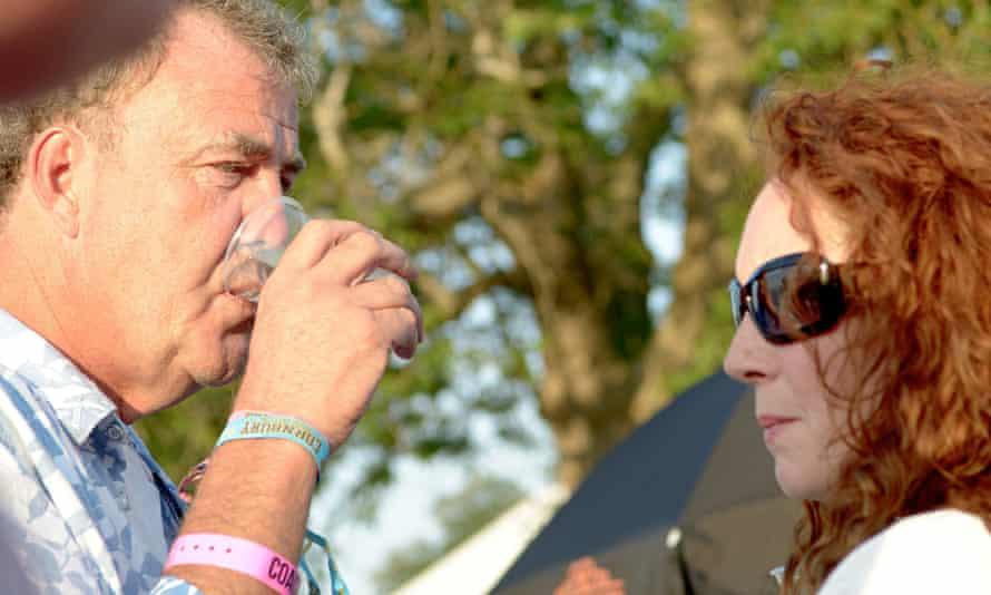 Jeremy Clarkson and Rebekah Brooks at Cornbury Festival, Oxfordshire