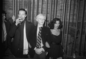 Hasse Persson  Halston, Andy Warhol, Bianca Jagger backstage, 1977 Hasse Persson Studio 54