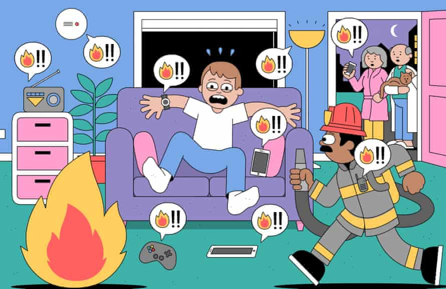 In the future, the whole house will issue fire warnings. Illustration: Dan Woodger