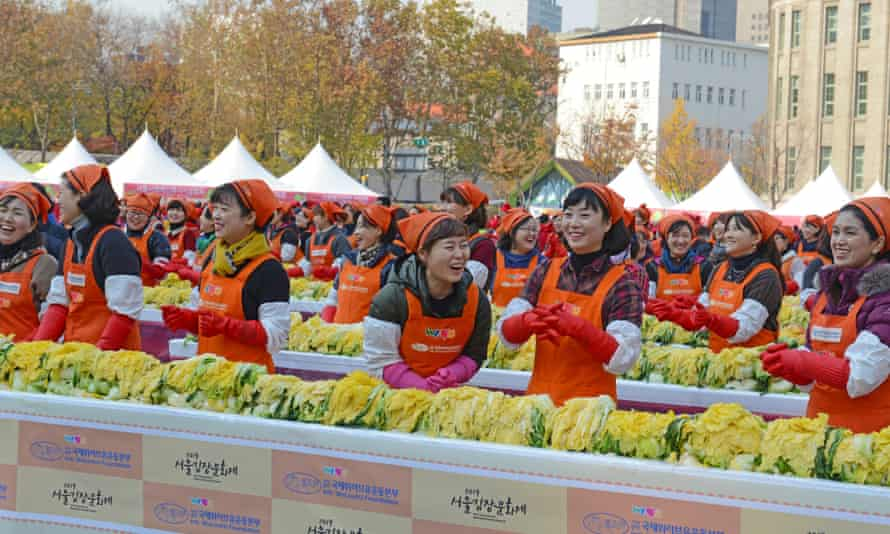 Kimchi Making and Sharing Festival in Seoul, South Korea