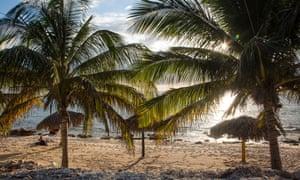 Sandy beach at La Boca, Cuba