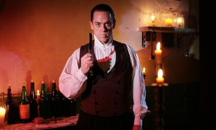 Jeremy Secomb as Tooting Arts Club's Sweeney Todd