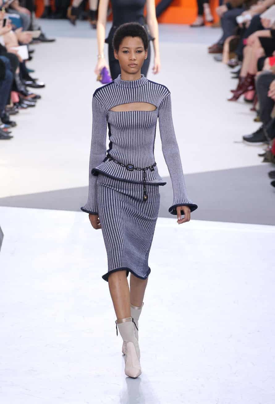 Lineisy Montero walking for Louis Vuitton.