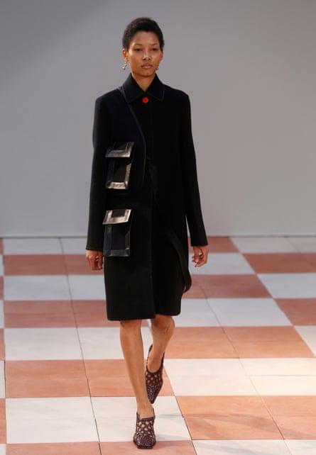Lineisy Montero walking for Celine during her debut modelling season this Paris Fashion Week.
